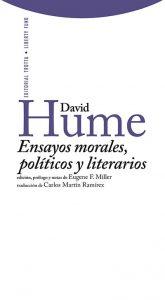 """""""Ensayos morales, políticos y literarios"""", David Hume, Trotta Editorial."""