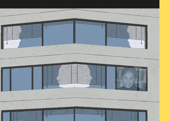 """Imagen a partir de la portada de """"La mujer singular y la ciudad"""" de Vivian Gornick en edición de Sexto Piso."""